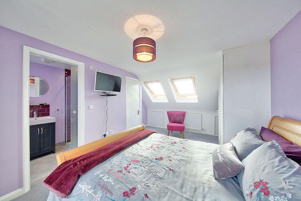 Interior image of loft conversion on Hawkes Road, Mitcham