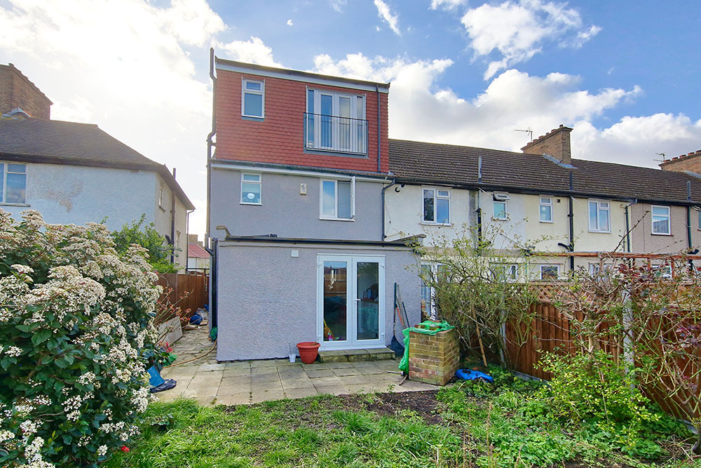 Outside image of loft conversion on Hawkes Road, Mitcham